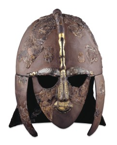 The iconic Sutton Hoo  ship burial helmet on display at the British Museum (with permission of the British Museum)