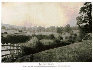 A photograph taken at the site of the cemetery around 1900 and published in 'Memorials of Old Hampshire' by George Edward Jeans.