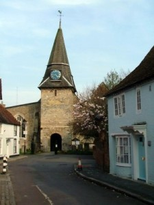 The Church tower (with Saxon remnants) at Titchfield